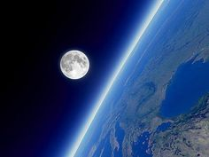 moon and earth from space