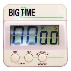 "Digital timer counts both up and down to 99 minutes and 59 seconds. Attach it to a filing cabinet, refrigerator, or magnetic chalkboard with the included magnet, or use the stand to set it on your desk. Measures 2-1/2 x 2-1/2"". Requires one AAA battery, not included. #backtoschool #backtoschool2017 #teacheressentials #classroomessentials #gotitatunited http://www.unitednow.com/product/19905/big-digital-timer-two.aspx"