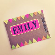 Bunting envelope by Papered Thoughts.
