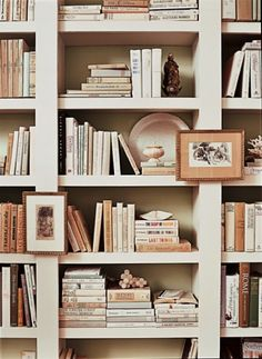 consider a color by painting a bookcase or painting the back of the shelves