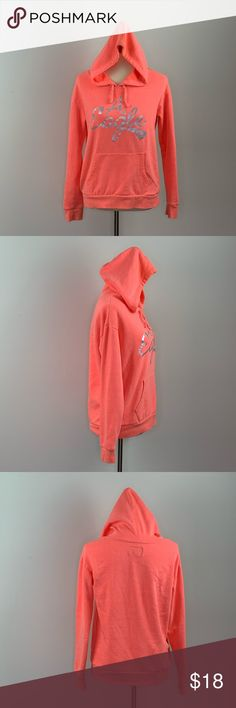 American Eagle Logo Hoodie Neon Orange Medium American Eagle Outfitters Hoodie Neon orange  Silver Logo on front Size medium Great gently used condition- there is some discoloration at the top edge of the hood Please see all pictures for details  Thanks for stopping by! **Fast Shipping** American Eagle Outfitters Tops Sweatshirts & Hoodies