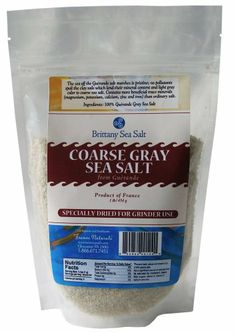 Dried Coarse Gray Sea Salt From Guérande 1 Lb Special for Grinders - http://spicegrinder.biz/dried-coarse-gray-sea-salt-from-guerande-1-lb-special-for-grinders/