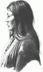 DAHTESTE (1860- ? ), guerrière Chiricahua Apache aux côtés de Geronimo, mariée à Ahnandia, amie de Lozen. - Artiste non identifié. - (Original)
