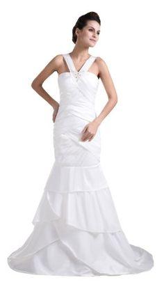 herafa Chemise Mermaid Evening Gowns Sweep Length Train Delicate Beading White Size:6 herafa,http://www.amazon.com/dp/B00BSMJDY8/ref=cm_sw_r_pi_dp_zowksb0KDYPVD7AG