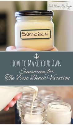 DIY, DIY Sunscreen, Homemade Products, Homemade Beauty Products, Natural Sunscreen, How to Make Natural Sunscreen, Homemade Sunscreen, DIY Sunscreen, Popular Pin