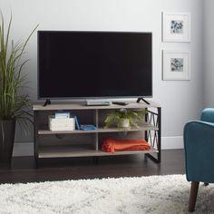 Simple Living Seneca XX 48-inch TV Stand (Black/Gray)
