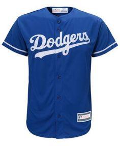 Majestic Clayton Kershaw Los Angeles Dodgers Player Replica Cool Base Jersey, Big Boys (8-20) - Blue XL