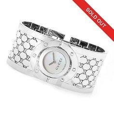 74704256e1b 630-925 - Gucci Women s Twirl Swiss Made Quartz Sapphire Crystal Bangle  Bracelet… Jewelry
