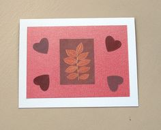 Red Valentine Hearts greeting card - upcycled