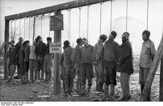 Brutal images of WW2. Executions in Russia by Germans.