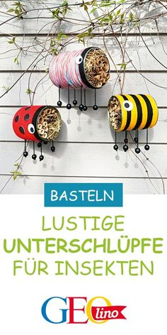 Bunte Nisthilfen: Wir bauen Insekten-Dosen We build colorful nesting aids for insects – and show you GEOLINO.de the instructions for replicating! L Wallpaper, Bug Hotel, Diy Y Manualidades, Bermuda Triangle, Diy Crafts For Kids, Kids Diy, Summer Crafts, Fall Crafts, Christmas Crafts