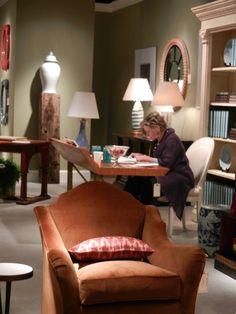 Bunny Williams at her Beeline Home showroom