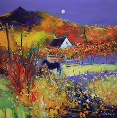 jolomo Nature Paintings, Landscape Paintings, Landscapes, Autumn Art, Folk Art, Art Drawings, Contemporary Art, Street Art, Art Pieces