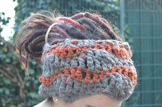 Dread Wrap Loop Tube Haarband/Stirnband Schmuck von Nordseekrabbe auf DaWanda.com