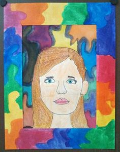 Second grade Self Portrait from observation and instruction - no tracing!  Elementary Art. Art Teacher Jennifer Lipsey Edwards