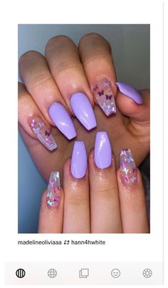 Light Purple Nails, Bright Summer Acrylic Nails, Purple Glitter Nails, Long Square Acrylic Nails, Violet Nails, Purple Acrylic Nails, Purple Nail Art, Acrylic Nails Coffin Short, Light Nails