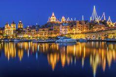 Vittoriosa on Malta Reflection at night by David Macdonald on 500px