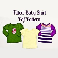 Fitted Baby Shirt Pattern | Sewing Pattern | YouCanMakeThis.com