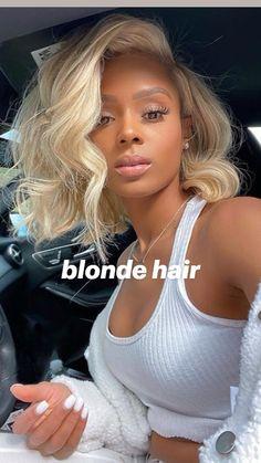 Blonde Natural Hair, Blonde Hair Black Girls, Blonde Bob Wig, Blonde Lace Front Wigs, Blonde Curly Hair, Honey Blonde Hair, Black Curly Hair, Short Blond Hair, Short Hair Styles