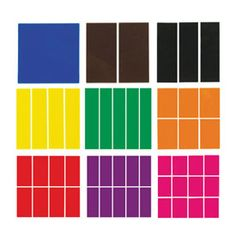 Deluxe Fraction Squares - 30 Sets of 51 in Tub