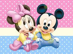 Minnie y Mickey of baby Baby Mickey Mouse, Festa Mickey Baby, Mickey Mouse E Amigos, Mickey E Minie, Mickey Mouse And Friends, Mickey Mouse Clubhouse, Disney Mickey, Disney Babys, Cute Disney