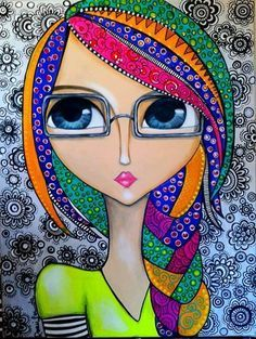 -- Begin Yuzo --><!-- without result -->Related Post Original acrylic on canvas painting by Stephane Bu. 25 Popsicle Recipes that Kids Will Love this Summe. Art And Illustration, Fabric Painting, Painting & Drawing, Whimsical Art, Art Plastique, Face Art, Medium Art, Indian Art, Doodle Art