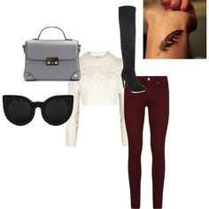 Hermione- Chapter Two by lookattheseasonschange on Polyvore featuring DKNY, Paige Denim and Delalle
