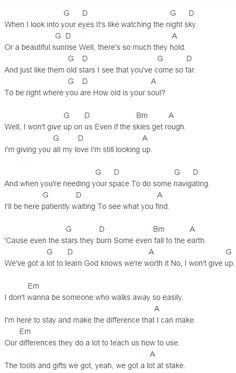 Jason Mraz - I Won't Give Up Chords Lyrics for Guitar Ukulele Piano Keyboard with Strumming Pattern on Standard No capo, Tune down and Capo Version. Acoustic Guitar Chords, Ukulele Chords Songs, Lyrics And Chords, Ukulele Tabs, Piano Songs, Guitar Songs, Piano Music, Sheet Music, Song Lyrics