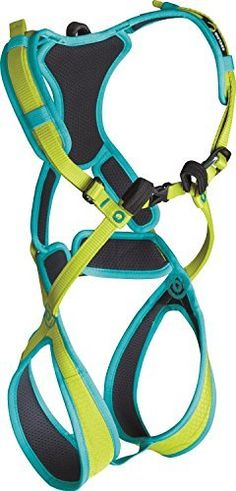 EDELRID - Fraggle II Children's Climbing Harness  The padded Fraggle full body harness is created for young climbers and little mountaineers weighing up to 488 pounds. The full cushioning offers the harness maximum dimensional stability; none of the tape loops can become twisted. The harness is for that reason incredibly intuitive to use and kids can put it on themselves without their parents' assistance. Two adjustable buckles make it fast and simple to accomplish the perfect fit - thanks…