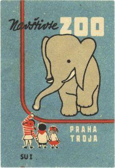 Goodies, Matching, Boîte D Allumettes, Vintage Prints, Czech Republic, Matchbox Labels, Matchbox Covers, Vintage Assorted, Prague Zoos