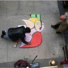 Dreaming on the sidewalk