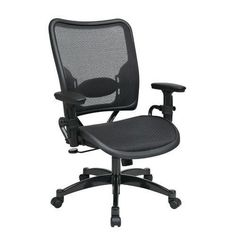 Professional AirGrid Seat and Back Chair with Gunmetal Finish Accents