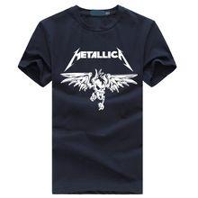 Classic Rock Heavy Metal Metallica tshirt Dos Homens Para O sexo masculino curto Algodão de manga Casual Streetwear hiphop top camiseta Novo estilo verão(China (Mainland))