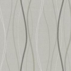 Tapety na zeď Patchwork - vlnovky šedo-bílé