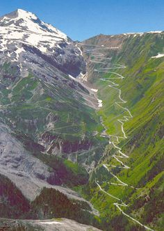 Voted best driving road in the world. STELVIO PASS in the Italian Alps is one of the highest mountain passes in all of Europe. Also one of the most dangerous roads in the world. Places To Travel, Places To See, Travel Things, Travel Stuff, Dangerous Roads, Winding Road, Italy Travel, Norway Travel, Wonders Of The World