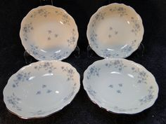 FOUR very beautiful Johann Haviland Bread Plates in great condition. Do You LOVE Johann Haviland Blue Garland? Very popular Bavaria, Germany Blue Garland Pattern. Made in Bavaria Blue Garland Pattern Discontinued in