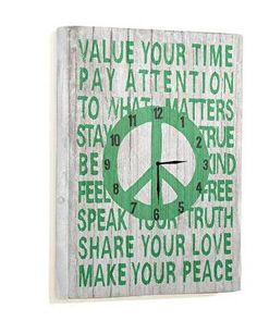 Value Your Time Wall Clock