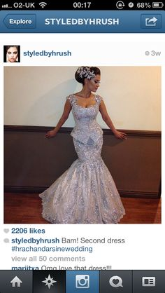 Beautiful silver encrusted dress