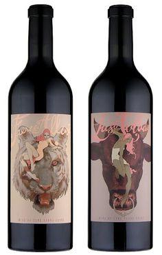 Labels for Some Young Punks wine by Tomer Hanuka. Wine Label Design, Bottle Design, Wine Logo, Bottle Packaging, Coffee Packaging, Food Packaging, Wine Bottle Labels, Beer Labels, Wine Brands