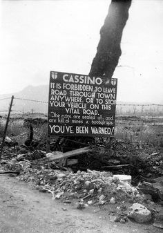 Cassino, Italy WWII -- another photo leading to Monte Cassino