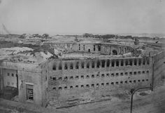 civil-war-Fort Morgan, Mobile Point, Ala., 1864, showing damage to the south side of the fort