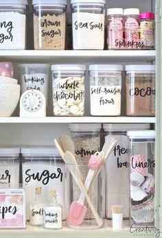 Kitchen pantry organisation.