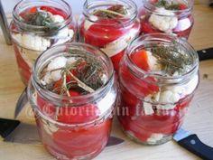 » Gogosari cu conopida in otetCulorile din Farfurie Punch Bowls, Vegetables, Food, Veggies, Vegetable Recipes, Meals, Yemek, Eten