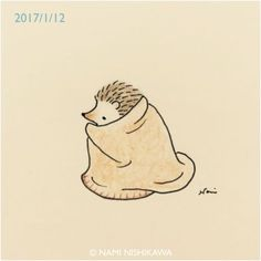 Look after yourself when the weather is chilly. but, remember that the sun will always shine again. Take care, my Fibro friends Hedgehog Art, Hedgehog Drawing, Cute Hedgehog, Cool Art Drawings, Cartoon Drawings, Animal Drawings, Easy Drawings, Drawing Sketches, Hedgehog Illustration