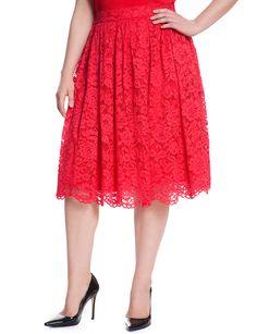 Lace Midi | Women's Plus Size Skirts | ELOQUII