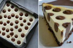 Roztomilý tečkovaný cheesecake s čokoládou – Napadov. Cheesecakes, Soul Food, Waffles, Cake Recipes, Deserts, Food And Drink, Sweets, Baking, Breakfast