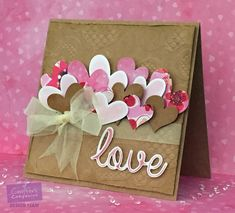 Inspiration: Valentine's Day Valentines Day Cards Handmade, Valentine Crafts, Greeting Cards Handmade, Karten Diy, Stamping Up Cards, Paper Cards, Creative Cards, Anniversary Cards, Homemade Cards