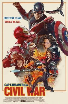 United We Stand, Divided We Fall!  The new Marvel Movie 'Civil War'  Finally :-)