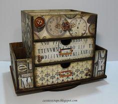 Resultado de imagen para kaisercraft beyond the page Decoupage Box, Decoupage Vintage, Vintage Crafts, Foam Board Crafts, Foam Crafts, Paper Crafts, Craft Organization, Craft Storage, Altered Boxes