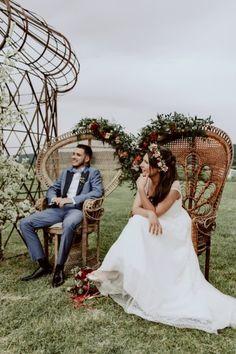cérémonie laique fauteuil emmanuelle  Les Bonnes joies  mariage boheme